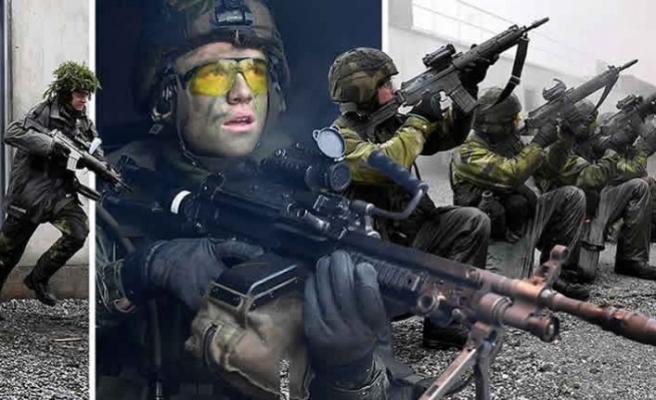 İsveç ordusunda hayatta kalma tatbikatı