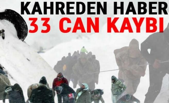 Van'daki ikinci çığ faciasında hayatını kaybedenlerin sayısı 33 oldu!