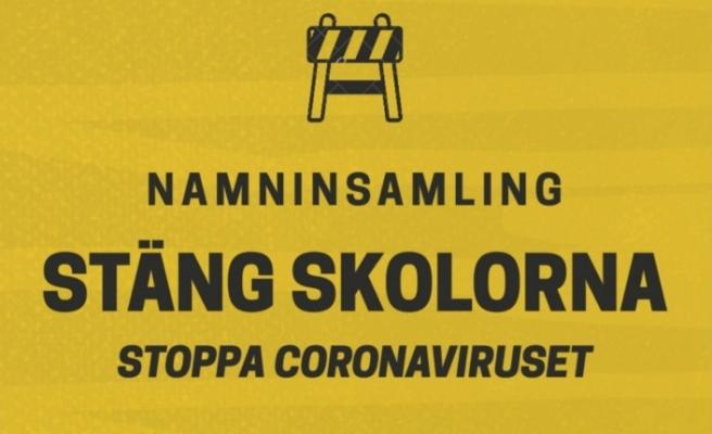 """İsveçlilerden çağrı """"Okulları kapatın! Koronavirüsü durdurun"""""""