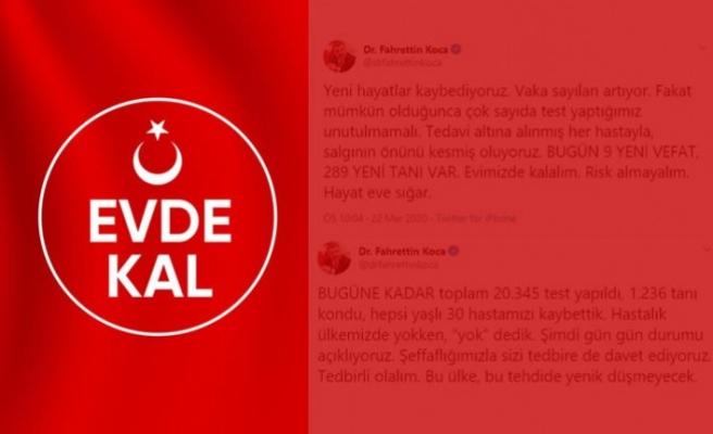 Türkiye'de koronavirüs nedeniyle 9 kişi daha hayatını kaybetti