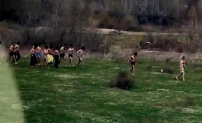 Yunanistan sınırından insanlık dışı görüntü!