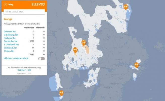 Stockholm'de elektik kesintisi 5 binden fazla hane olumsuz etkilendi