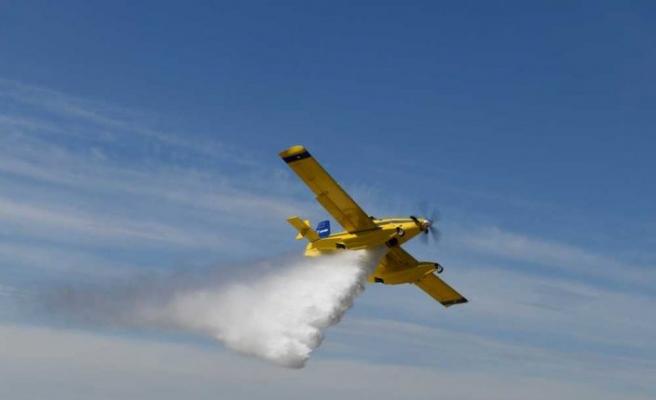 Uppsala'da orman yangını MSB'nin yeni yangın müdahale uçağı ilk kez havalandı