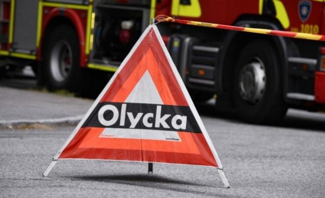 Hendeğe düşen araçta dört kişi yaralandı