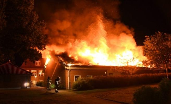 Malmö'de bir okul çıkan yangından sonra kullanılamaz hale geldi