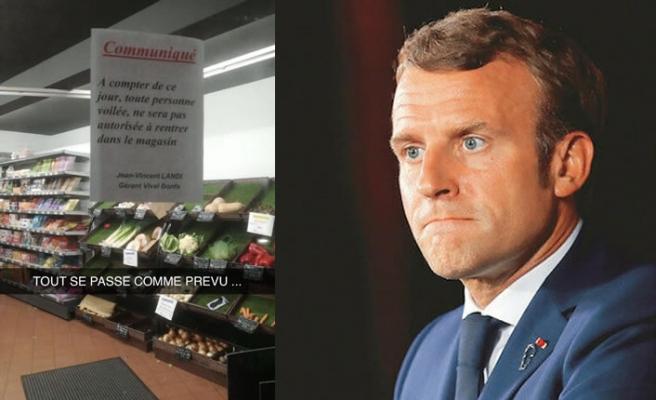 Fransa'da Müslüman kadınlar hedefte: Bir süpermarketin kapısına 'başörtülüler giremez' yazıldı