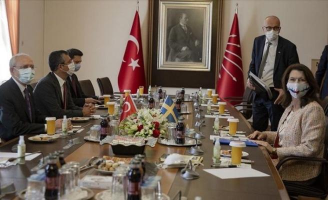 Kılıçdaroğlu, İsveç Dışişleri Bakanı Linde ile görüştü