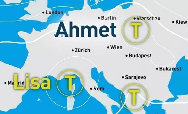Almanya'da İlk fırtınanın adı 'Ahmet'