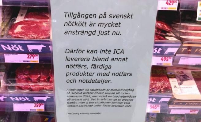 İsveç'teki dev market zincirlerinde et sıkıntısı