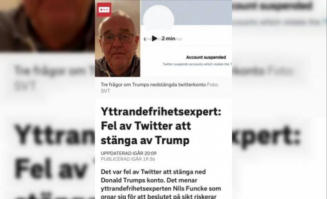 İsveç'te basın ve ifade özgürlüğü uzmanından, Trump'ın Twitter hesabının askıya alınmasına tepki