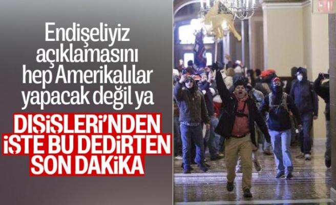 Türk Dışişleri Bakanlığı: ABD'deki gelişmeleri endişe ile takip ediyoruz