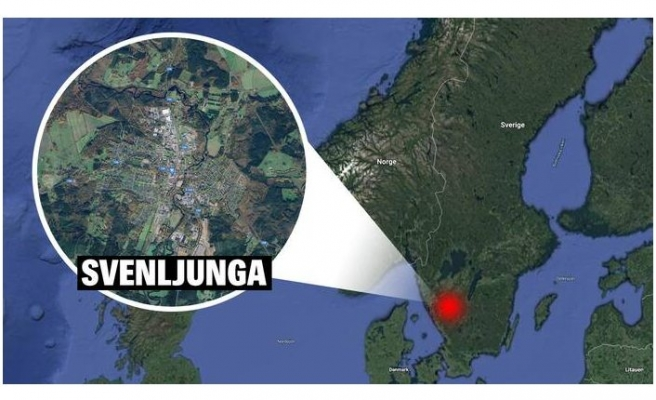 Svenljunga'da bir kişi yüzünden bıçaklandı