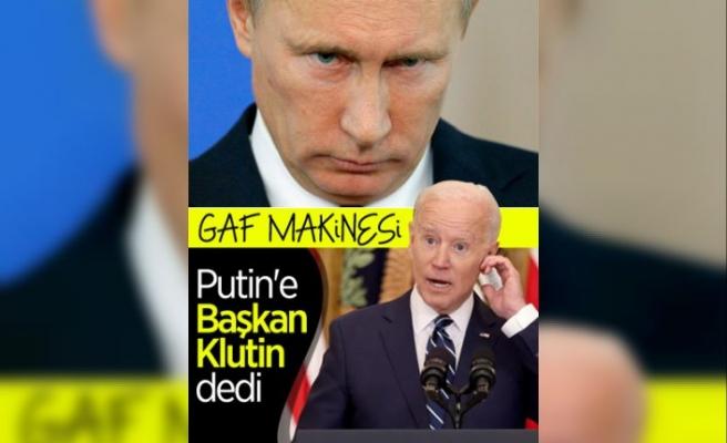ABD Başkanı Joe Biden, Putin yerine 'Klutin' dedi