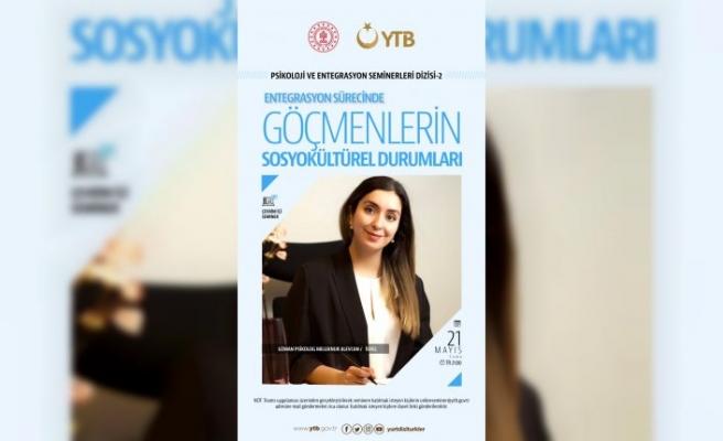 """İsveç'te yaşayan  Uzman Psikolog Alevcan'dan ''Göçmenlerin Sosyokültürel Durumları """"başlıklı seminer"""