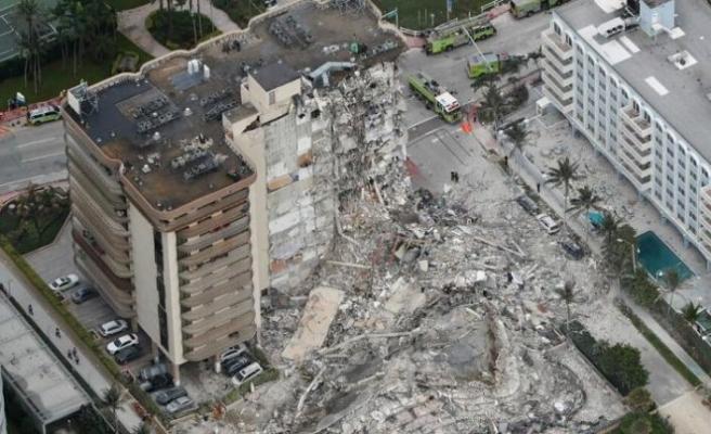 ABD'de çöken 12 katlı binanın enkazı altında 160 kişi var, ölü sayısı artabilir