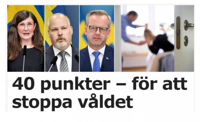 İsveç'ten kadına yönelik şiddeti durdurmak için 40 maddelik adım