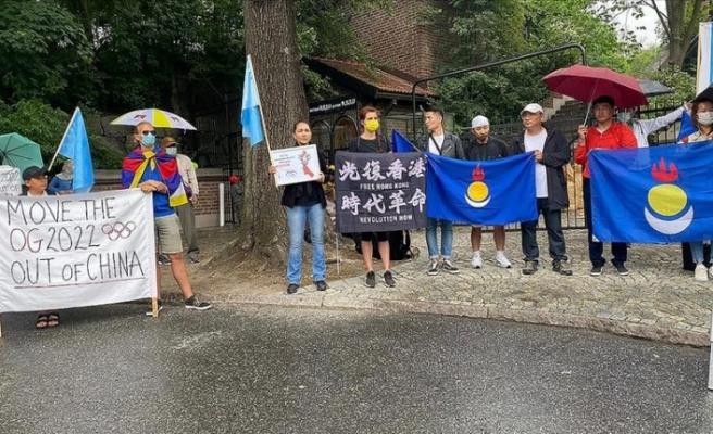 İsveç'te Pekin 2022 Kış Olimpiyatları'nın boykot edilmesi için eylem yapıldı