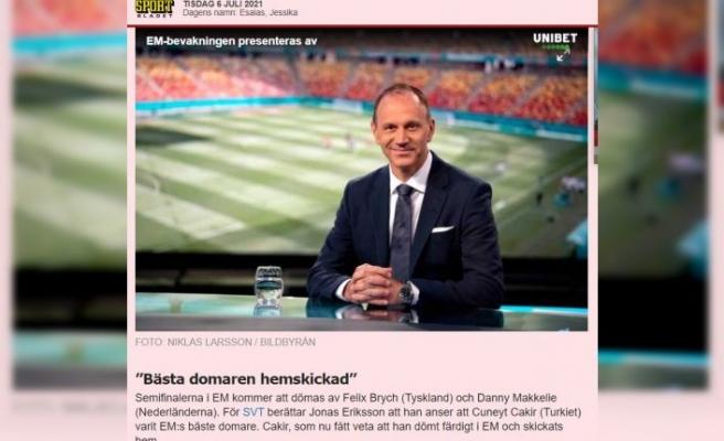 Cüneyt Çakır'a görev vermeyen UEFA'ya İsveçli hakemden sert tepki