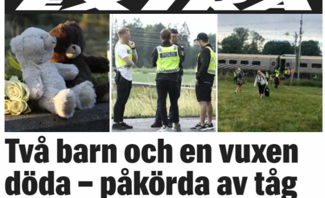 İsveç'te iki çocuk, bir yetişkin trenin altında can verdi