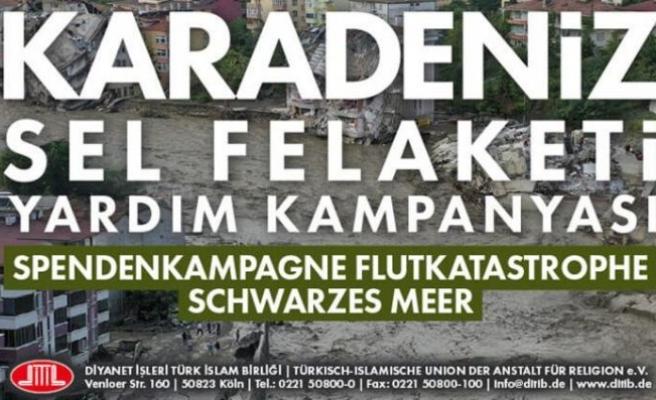 Almanya'da Karadeniz'deki sel mağdurları için yardım kampanyası!