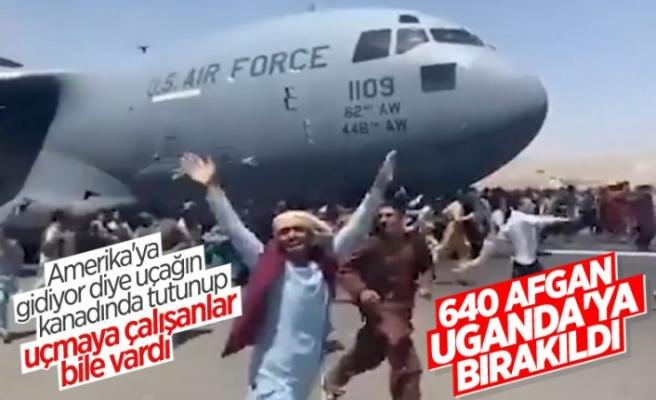 Rusya: Afganları taşıyan ABD uçağı Uganda'ya indi