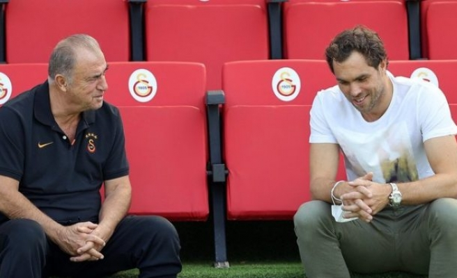 Johan Elmander, Galatasaray Antrenmanını Ziyaret Etti