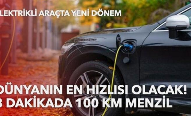 Dünyanın en hızlı elektrikli aracı! 15 dakikada şarj olacak