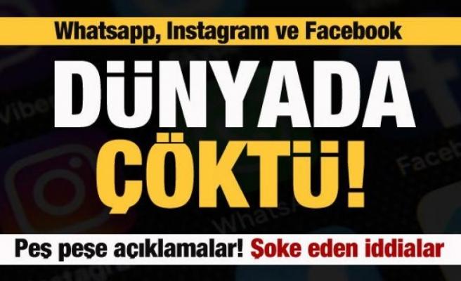 Instagram, WhatsApp ve Facebook çöktü! Peş peşe açıklamalar! Şoke eden iddia!