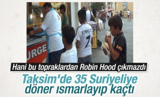35 çocuğa döner ısmarladı, parayı ödemeden kaçtı
