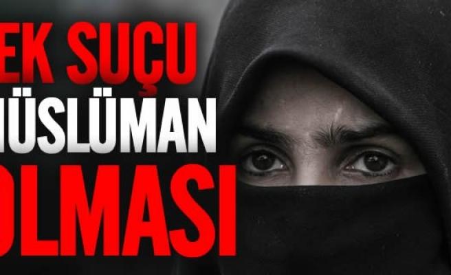 8 aylık hamile Müslüman kadına çirkin saldırı