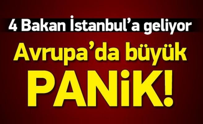 AB'den 4 Bakan İstanbul'a geliyor