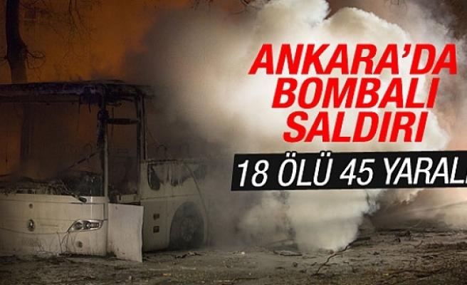 Ankara'da askeri servis aracına bombalı saldırı