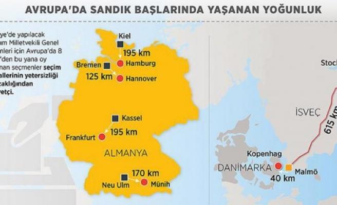 Avrupa'daki Türkler sandıkların uzaklığından şikayetçi