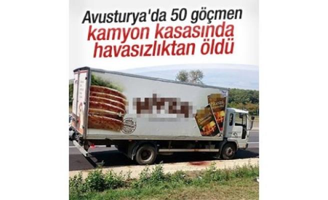 Avusturya'da 50 göçmen kamyon kasasında öldü