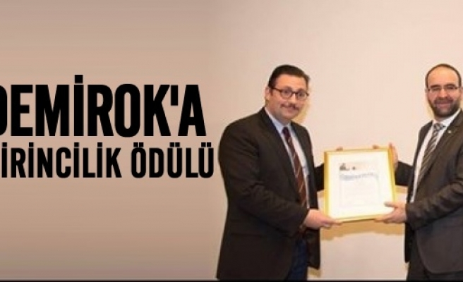 Bakan Kaplan'dan, Demirok'a birincilik ödülü