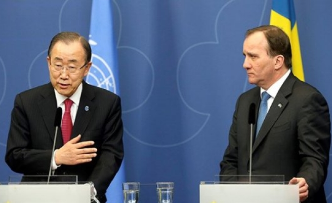 BM Genel Sekreteri Ban Ki-mun,İsveç'te