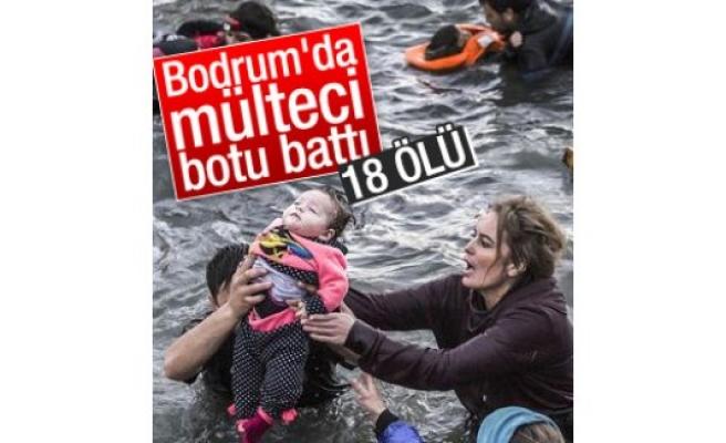Bodrum'da mülteci teknesi battı: 18 ölü