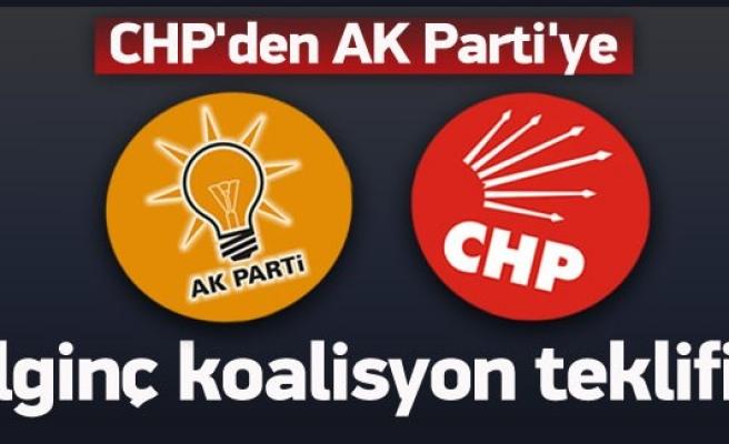 CHP'den AK Parti'ye ilginç koalisyon teklifi