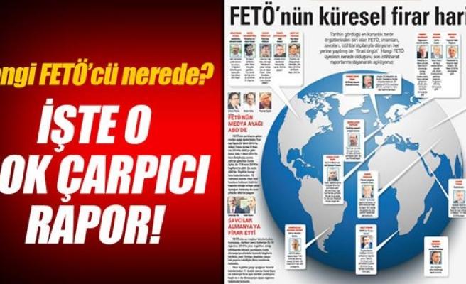 Fetö'nün küresel firari haritası!