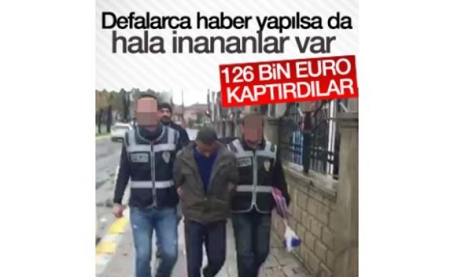 'FETÖ tehdidiyle' 126 bin euro dolandırdılar
