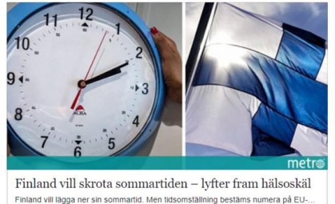 Finlandiya yaz saati uygulamasının kaldırılmasını istiyor