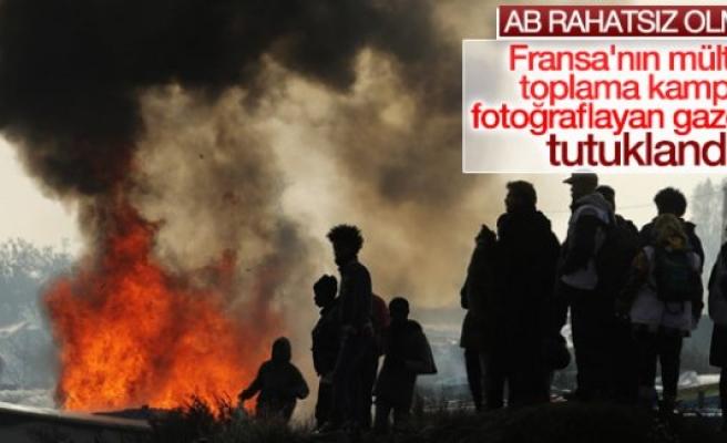 Fransız gazeteciye polis müdahalesi
