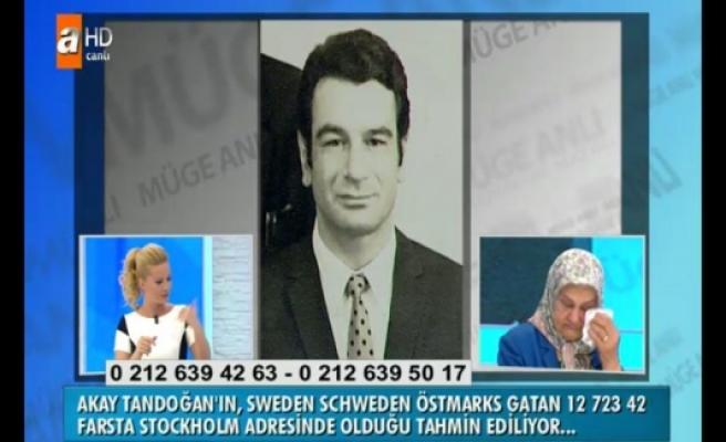 Gözü yaşlı bayan İsveç'te ki kayıp kardeşini arıyor...
