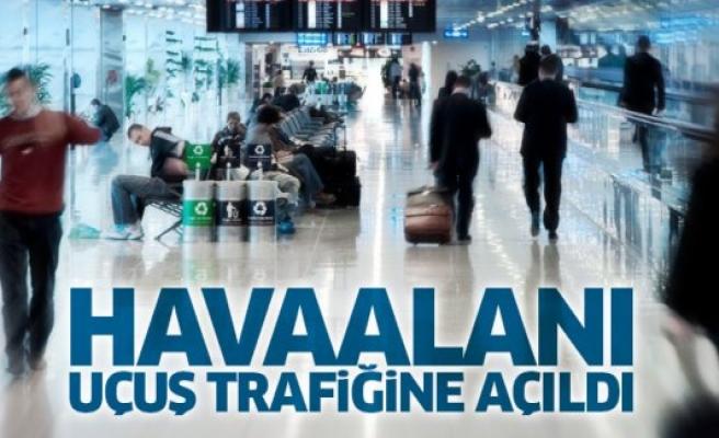 Havaalanı uçuş trafiğine açıldı
