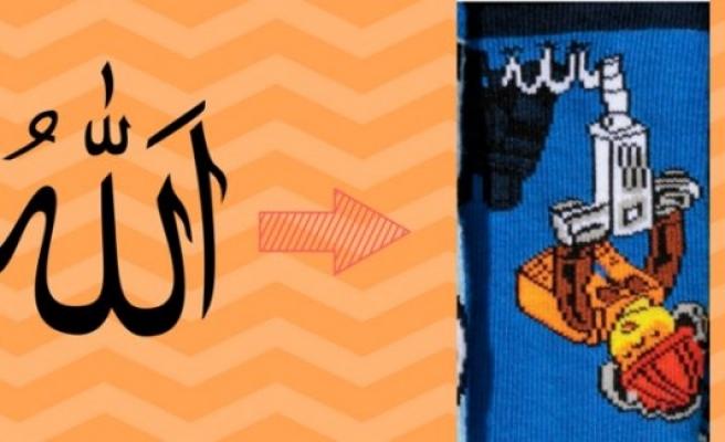 """H&M'in """"Allah"""" yazılı çocuk çorapları skandalı"""
