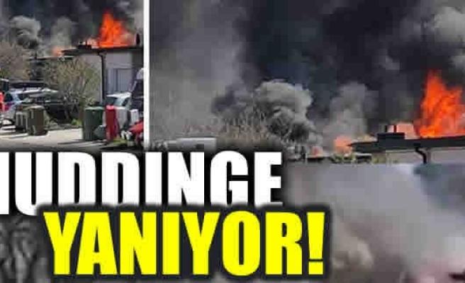 Huddinge yanıyor!