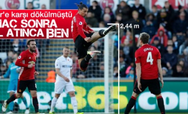 İbraimovic'ten gol sonrası tekvando şov