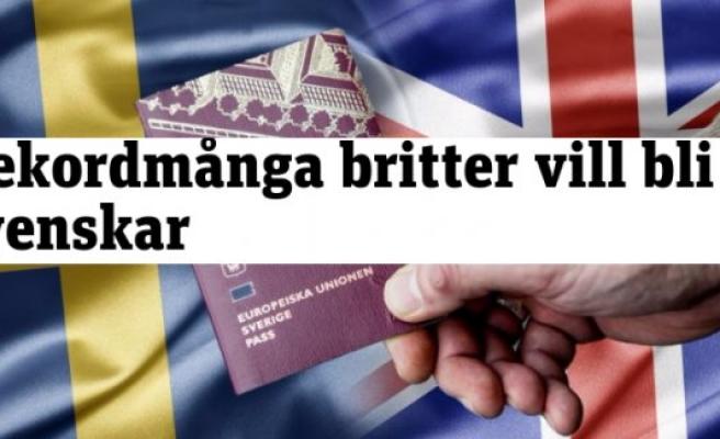 İngilizlerden İsveç Vatandaşlığına Rekor Başvuru