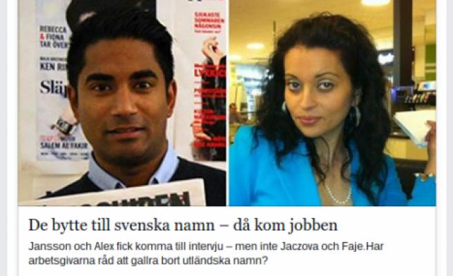 İsimlerini İsveççe isimle değiştirdiler hemen iş buldular