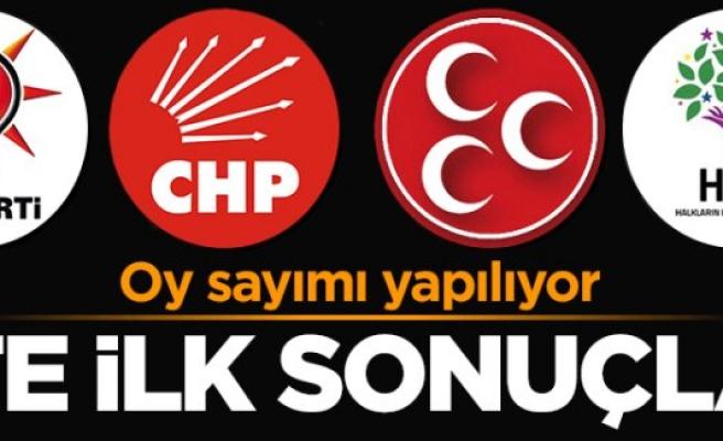 İşte ilk 1 Kasım seçimi Türkiye geneli sonuçlar